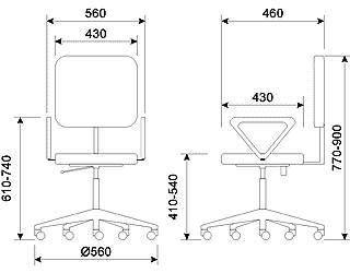 T-898AXSN-B Кресло кожаное.